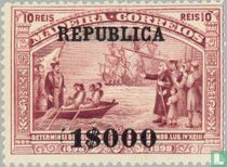 Vasco da Gama zegels Madeira opdr. REPUBLICA