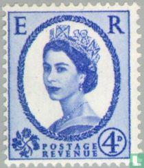 Koningin Elizabeth II (Wilding) - grafiet + fosfor