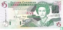 Oost. Caraïben 5 Dollars G