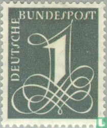Freimarke: Ziffernzeichnung