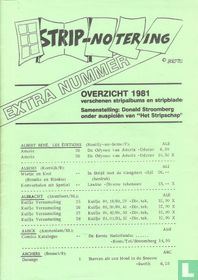 Stripnotering - Extra nummer - Overzicht 1981
