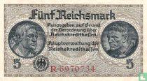 Reichskreditkassen, 5 Reichsmark ND (1939) (A)  kopen