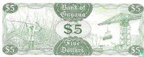 Guyana 5 Dollars ND (1989)
