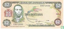 Jamaica 2 Dollars 1989