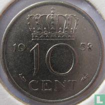 Nederland 10 cent 1958
