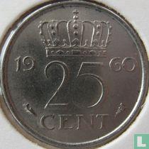 Nederland 25 cent 1960