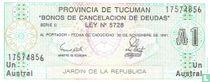 Argentinië 1 Austral 1991 (Tucuman)