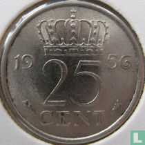 Nederland 25 cent 1956