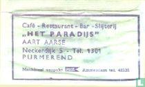 """Café Restaurant Bar Slijterij """"Het Paradijs"""""""