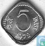 India 5 paise 1972 (Hyderabad)