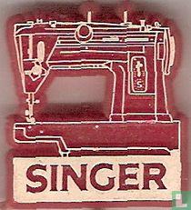 Singer [wit op rood]