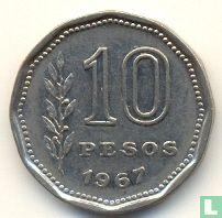 Argentinië 10 pesos 1967