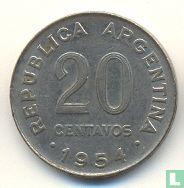Argentinië 20 centavos 1954