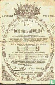 Vereeniging tot bevordering van 's lands weerbaarheid, Loterij Geldleening, aandeel 2,50 Gulden
