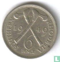 Zuid-Rhodesië 6 pence 1949
