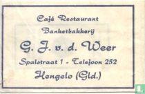 Café Restaurant Banketbakkerij G.J. v.d. Weer