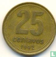 Argentina 25 centavos 1992