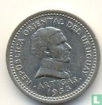 Uruguay 2 centésimos 1953