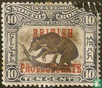 Maleise beer, met opdruk