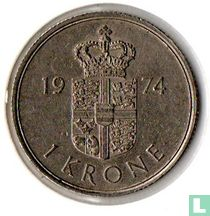 Denemarken 1 krone 1974