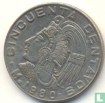 Mexico 50 centavos 1980 (breed jaartal)