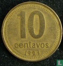 Argentina 10 centavos 1993