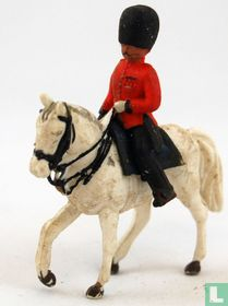 Scots Guard officer on horseback