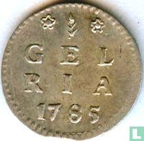 """Gelderland 1 stuiver 1785 """"bezemstuiver"""""""