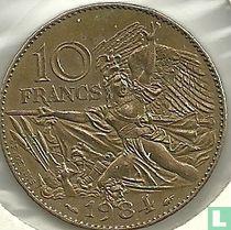 "Frankrijk 10 francs 1984 ""200th Anniversary of the birth of François Rude"""