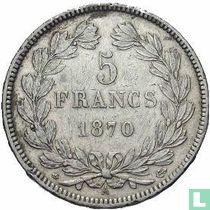 France 5 francs 1870 (Ceres - A - without legend)