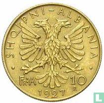 Albania 10 franga ari 1927