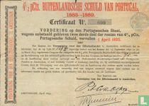 4 1/2 pCts Buitenlandsche Schuld van Portugal, 1888-1889, Certificaat van vordering wegens onbetaald gebleven rente