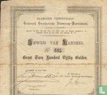 Geldersch Overijselsche Stoomtram-Maatschappij, Bewijs van aandeel, 250,= Gulden