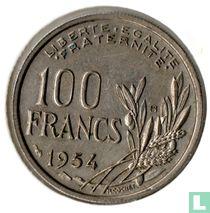 Frankrijk 100 francs 1954 (met B)