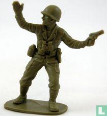 Amerikaanse infanterie (G.I.'s) sergeant