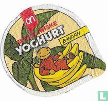 Suske en Wiske yoghurt banaan treklabel