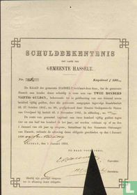 Gemeente Hasselt, Schuldbekentenis, 250,= Gulden