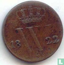 Netherlands ½ cent 1822 (B)