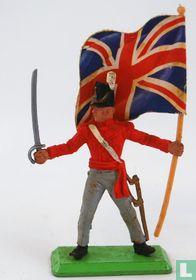 Officier met sabel en vlag