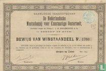 De Nederlandsche Maatschappij voor Kunstmatige Oesterteelt, Bewijs van winstaandeel