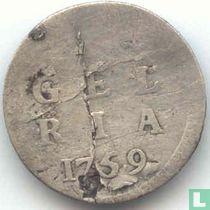 Gelderland 1 stuiver 1759