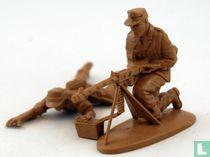 Mitrailleurteam Afrika Korps