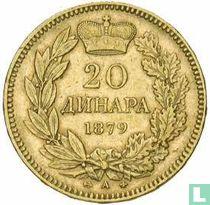 Servië 20 dinara 1879