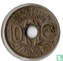 Frankrijk 10 centimes 1934