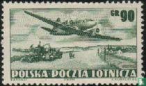 Aircraft on Landschaft