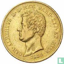 Sardinië 20 lire 1834