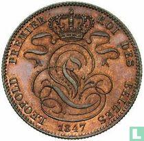 Belgique 5 centimes 1847