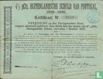 Vereeniging voor den Effectenhandel, 4 1/2 Pct Buitenlandsche Schuld van Portugal, 1888-1889, Vorderingscertificaat