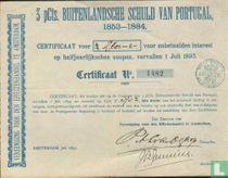 Vereeniging voor den Effectenhandel, 3 Pcts Buitenlandsche Schuld van Portugal, Certificaat voor onbetaalde interest