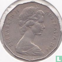 Australia 50 cents 1974